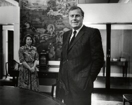 Sir Ewen Fergusson with his secretary, by Anne-Katrin Purkiss - NPG x45804
