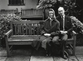 Sue Ryder; Leonard Cheshire, Baron Cheshire, by Anne-Katrin Purkiss, June 1987 - NPG x31693 - © National Portrait Gallery, London