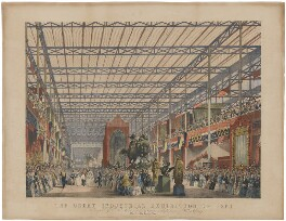 The Great Industrial Exhibition of 1851. Plate 2. The Foreign Nave, by Joseph Nash - NPG D16397