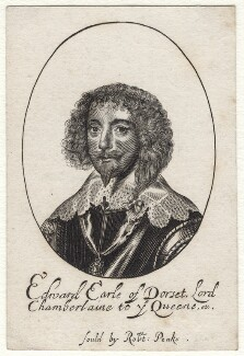 Edward Sackville, 4th Earl of Dorset, probably by William Faithorne, published by  Sir Robert Peake, after  Sir Anthony van Dyck - NPG D16413