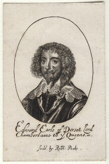 Edward Sackville, 4th Earl of Dorset, probably by William Faithorne, published by  Sir Robert Peake, after  Sir Anthony van Dyck - NPG D16414