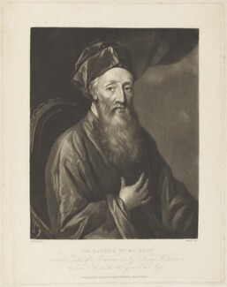 Sir Patrick Hume, 1st Earl of Marchmont, possibly by John Murphy, published by  T. Cadell & W. Davies, after  William Aikman - NPG D19194