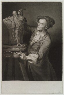 Louis François Roubiliac, by David Martin, after  Adrien Carpentiers (Carpentière, Charpentière) - NPG D19201