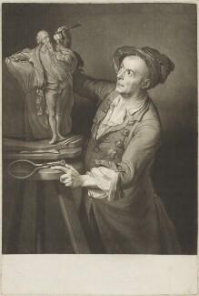 Louis François Roubiliac, by David Martin, after  Adrien Carpentiers (Carpentière, Charpentière), published 1765 (1762) - NPG D19201 - © National Portrait Gallery, London