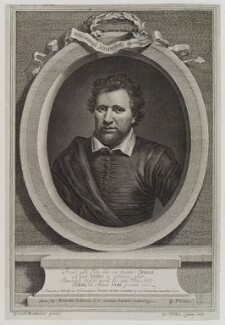 Benjamin ('Ben') Jonson, by George Vertue, after  Gerrit van Honthorst, after  Abraham van Blyenberch - NPG D19205