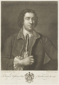 Francis Dashwood, 11th Baron Le Despencer, by John Faber Jr, after  Adrien Carpentiers (Carpentière, Charpentière) - NPG D19212