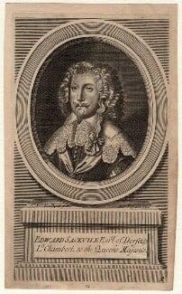 Edward Sackville, 4th Earl of Dorset, by Michael Vandergucht, after  Sir Anthony van Dyck - NPG D16417