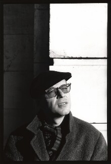 John Hegley, by Nik Strangelove, 15 December 1993 - NPG  - © Nik Strangelove / http://www.nikstrangelove.com / National Portrait Gallery, London