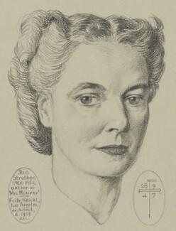 Jan Struther (Joyce Anstruther, later Placzek), by Fritz Reichl - NPG 6665