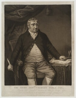 Charles James Fox, by and published by John Gillbank - NPG D19255