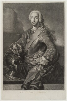 Prince Charles Edward Stuart, by Louis Surugue, after  Domenico Duprà - NPG D19272