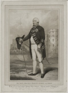 King George III, by Anthony Cardon, published by  Colnaghi & Co, published by and after  Henry Edridge - NPG D19278
