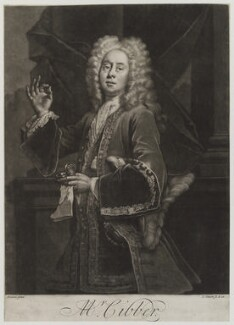 Colley Cibber, by and published by John Simon, after  Giuseppe Grisoni, circa 1742 or before - NPG D19294 - © National Portrait Gallery, London