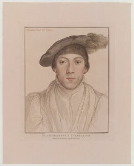 Henry Howard, Earl of Surrey, by Francesco Bartolozzi, published by  John Chamberlaine, after  Hans Holbein the Younger - NPG D19312