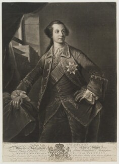 Charles Watson-Wentworth, 2nd Marquess of Rockingham, by Richard Houston, after  Benjamin Wilson, circa 1760-1775 - NPG D19319 - © National Portrait Gallery, London
