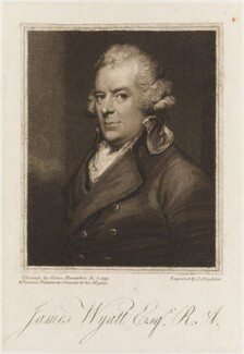 James Wyatt, by Joseph Singleton, after  Ozias Humphry - NPG D19320