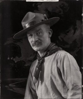 Robert Baden-Powell, by Henry Walter ('H. Walter') Barnett, 1908 - NPG x126436 - © National Portrait Gallery, London