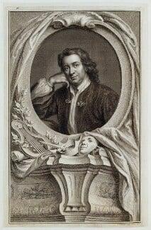 Thomas Otway, by Jacobus Houbraken, published by  John & Paul Knapton, after  Mary Beale - NPG D19328