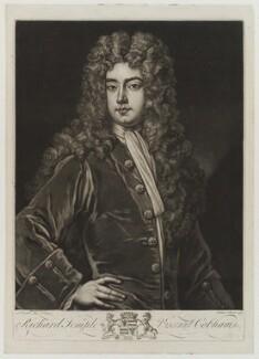 Richard Temple, 1st Viscount Cobham, by John Faber Jr, after  Sir Godfrey Kneller, Bt - NPG D19332
