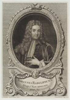 John Radcliffe, by Paul Fourdrinier (Pierre), after  Sir Godfrey Kneller, Bt - NPG D19339