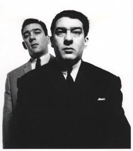 Reggie Kray; Ronnie Kray, by David Bailey - NPG x126466