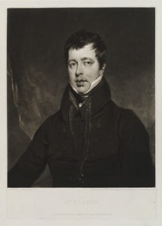 John Liston, by William Ward, published by  Colnaghi & Co, after  John Jackson - NPG D19354