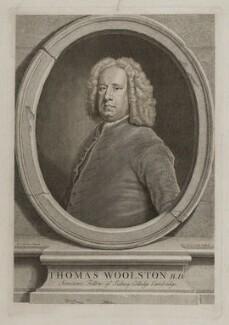 Thomas Woolston, by John Vandergucht, after  Bartholomew Dandridge - NPG D19356