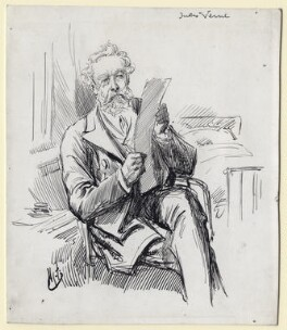 Jules Verne, by Harry Furniss - NPG D16453
