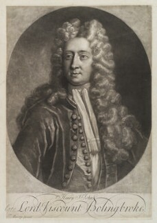 Henry St John, 1st Viscount Bolingbroke, by George White, after  Thomas Murray - NPG D19374