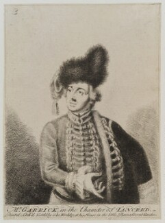 David Garrick, by Thomas Worlidge - NPG D19381