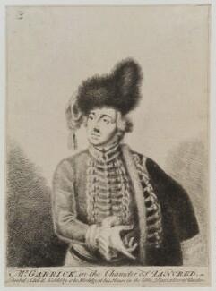 David Garrick, by Thomas Worlidge, circa 1740-1766 - NPG D19381 - © National Portrait Gallery, London