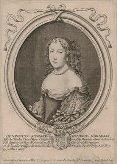 Henrietta Anne, Duchess of Orleans, by Nicolas de Larmessin, published by  Pierre Bertrand, 1660s - NPG D16459 - © National Portrait Gallery, London