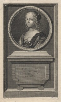 Henrietta Anne, Duchess of Orleans, by Jean Audran, after  Claude Mellan - NPG D16461