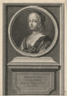 Henrietta Anne, Duchess of Orleans, by Jean Audran, after  Claude Mellan - NPG D16462