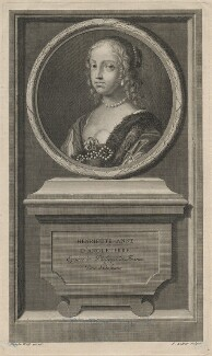 Henrietta Anne, Duchess of Orleans, by Jean Audran, after  Claude Mellan, published 1707 - NPG D16463 - © National Portrait Gallery, London