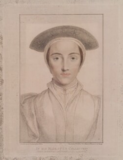 Called Anne of Cleves, by Francesco Bartolozzi, published by  John Chamberlaine, after  Hans Holbein the Younger - NPG D19386