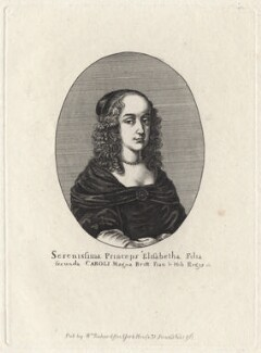 Princess Elizabeth, by Edmund Dorrell, after  Wenceslaus Hollar - NPG D16467