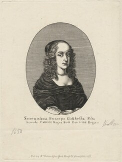 Princess Elizabeth, by Edmund Dorrell, after  Wenceslaus Hollar, published 1796 (1650) - NPG D16468 - © National Portrait Gallery, London