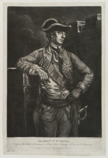 William Howe, 5th Viscount Howe, by Richard Purcell (H. Fowler, Charles or Philip Corbutt), published by  John Morris - NPG D19390