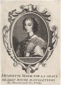 Henrietta Maria, published by Balthasar Moncornet, after  Unknown artist - NPG D16472