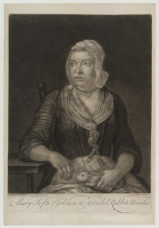 Mary Toft (née Denyer), by John Faber Jr, after  John Laguerre, circa 1726 - NPG D19401 - © National Portrait Gallery, London