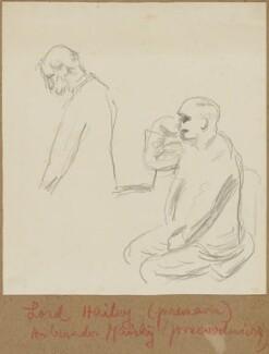 (William) Malcolm Hailey, 1st Baron Hailey; Ivan Mikhailovich Maisky, by Henryk Gotlib - NPG D13578