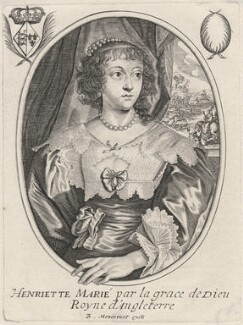 Henrietta Maria, published by Balthasar Moncornet, after  Sir Anthony van Dyck - NPG D16478