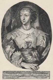 Henrietta Maria, by Pieter de Jode II, after  Sir Anthony van Dyck - NPG D16480