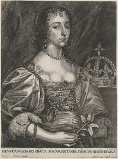 Henrietta Maria, by Johannes Meyssens, after  Sir Anthony van Dyck - NPG D16481