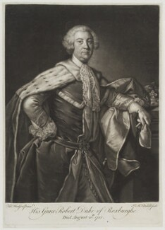 Robert Ker, 2nd Duke of Roxburghe, by James Macardell, after  Thomas Hudson - NPG D19439