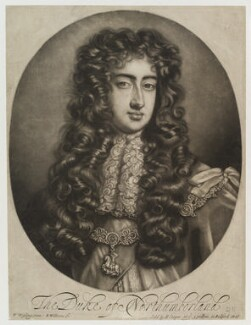 George Fitzroy, 2nd Duke of Northumberland, by Robert Williams, sold by  Edward Cooper, after  Willem Wissing - NPG D19456