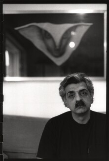 Tariq Ali, by Nik Strangelove, 4 May 1994 - NPG x76704 - © Nik Strangelove / http://www.nikstrangelove.com / National Portrait Gallery, London