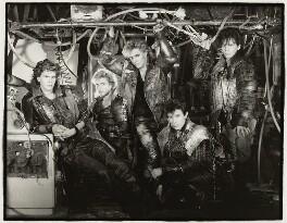 Duran Duran (John Taylor; Simon Le Bon; Nick Rhodes; Roger Taylor (Roger Meddows-Taylor); Andy Taylor), by Mike Owen, 1984 - NPG x126487 - © Mike Owen / National Portrait Gallery, London