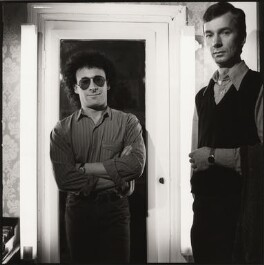 Antony Sher; Philip Hedley, by Liam Woon - NPG x35290